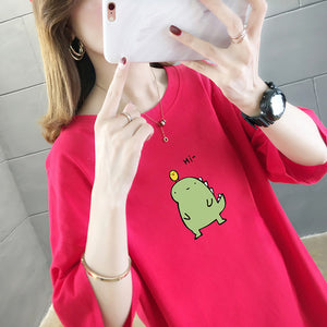 Cartoon Design Short-Sleeved Top