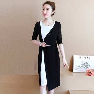 Noble Lady High-end Black and White Dress