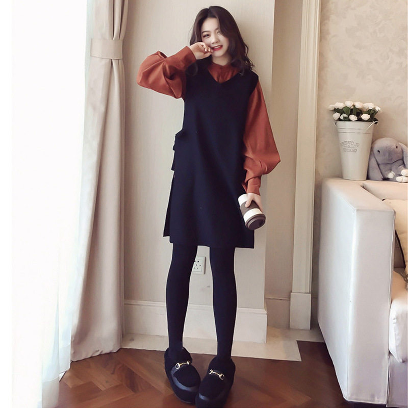 Korean Fashion Middle-length Two-piece Top
