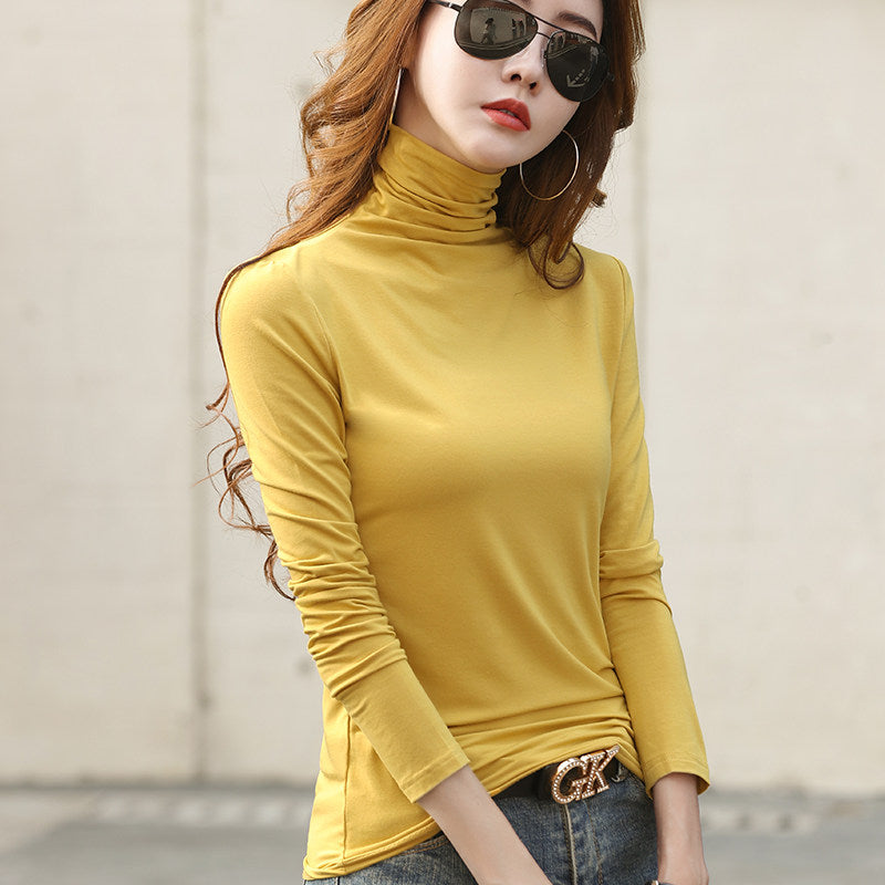 Soft High-collar Long Sleeved  Top