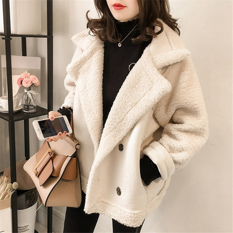 Locomotive Clothing Lamb Fur Coat