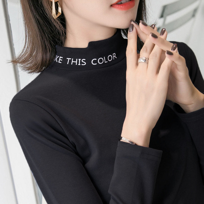 Printed Collar Easy Wear Top