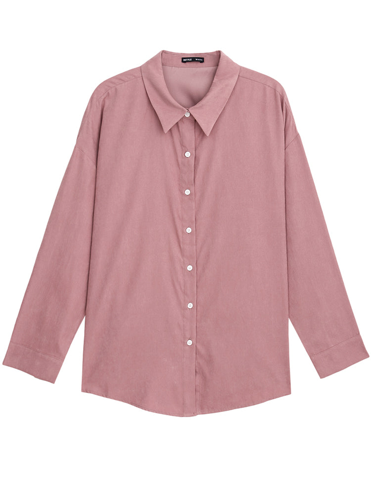 A18C Polo Collar Long-Sleeved Slim Shirt