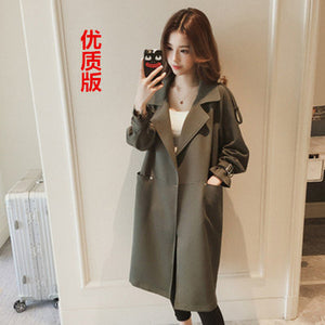 Lapel Loose Mid-length Trench Coat