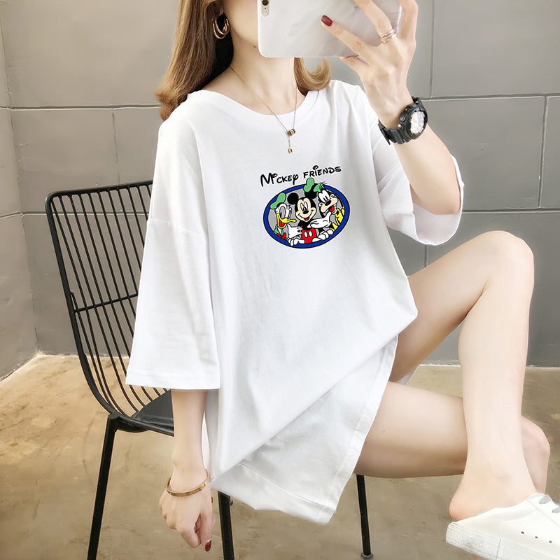 A37Q Mickey Mouse Donald Duck Mickey Short Sleeve T-Shirt