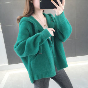 Fleece Loose Hooded Jacket