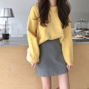 Round Neck Feel Soft Thickened Sweater