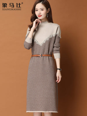 A19U Belted Waist Dress