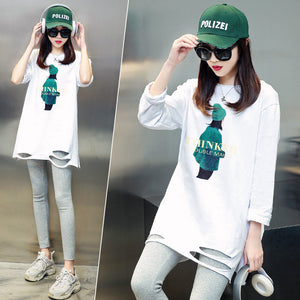 A21F Loose-fitting White Stylish T-shirt Winter 2020 (white Average code)