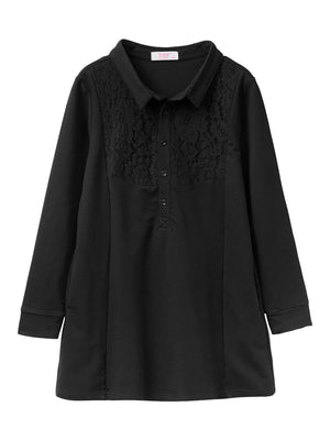 Collar & Buttons Shirt Dress-Blouses & Shirts-[korean fashion]-[korean clothing]-[korean style]-SOO・JIN