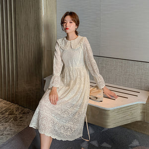 A20M  Doll Collar Gentle Lace Dress