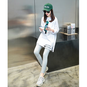 A21F Loose-fitting White Stylish T-shirt Winter 2020