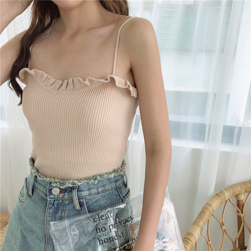 Sleeveless Knitted Outer Wear Top