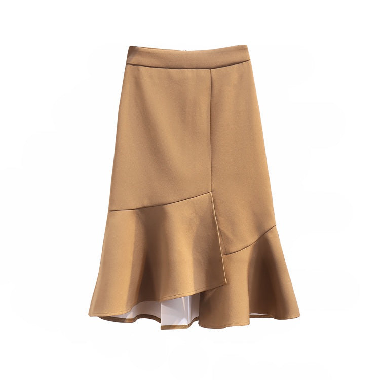 Ruffle & Waves Skirt-Bottoms-[korean fashion]-[korean clothing]-[korean style]-SOO・JIN