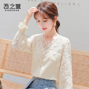 A20Y Lace Neck Plus-thick leggings Top Winter 2020