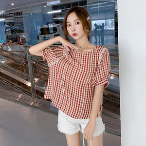Shoulder Line Design Short Sleeve Top