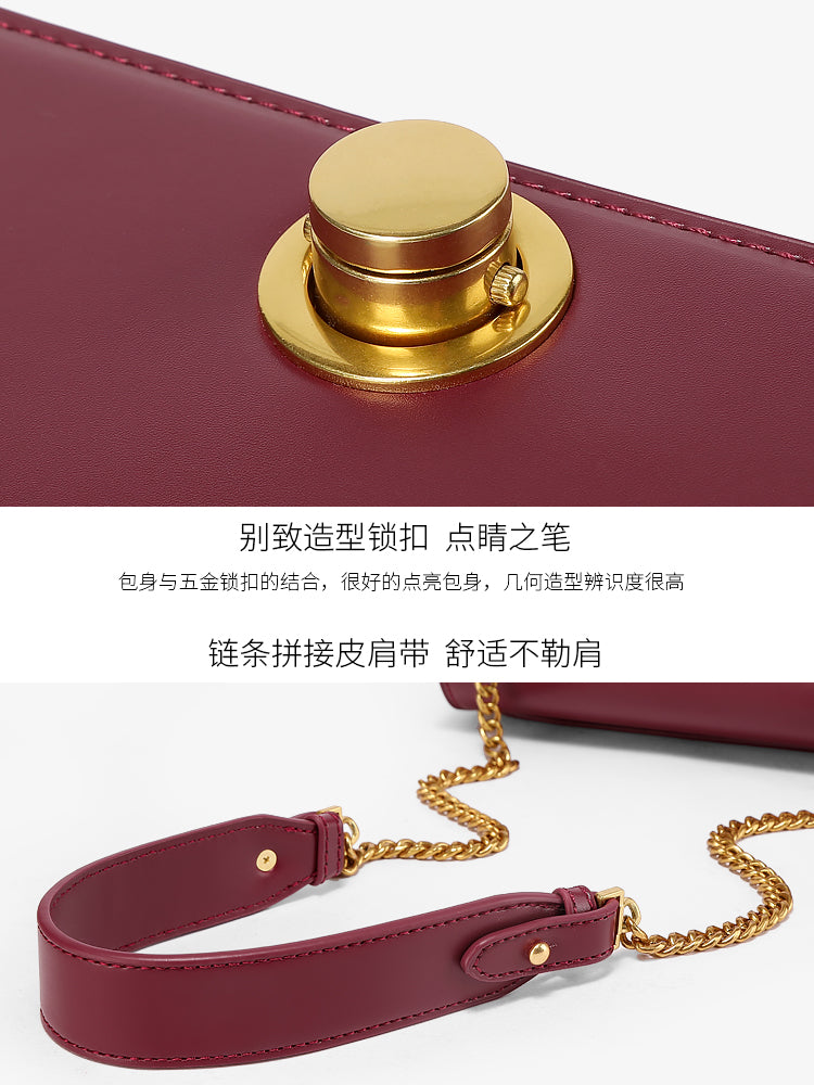 A32Q Chic Styling Lock Compartment Women's Bag