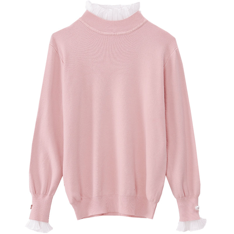 A11K Turtleneck Bell-Sleeve Pullover