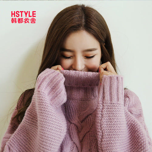 Thick Knit Turtleneck Pullover A7L