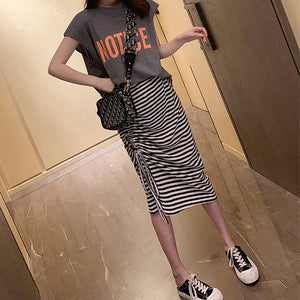 A35Y Notice Letter T-shirt Casual Two-piece Suit