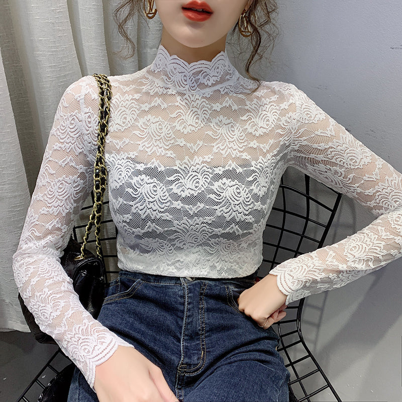 A30Y Slim Lace All over Top