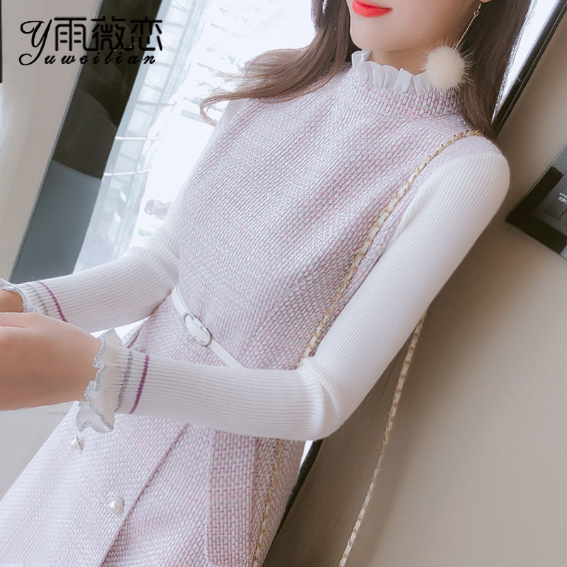A11O Thickened Small Fragrance Knitted Dress