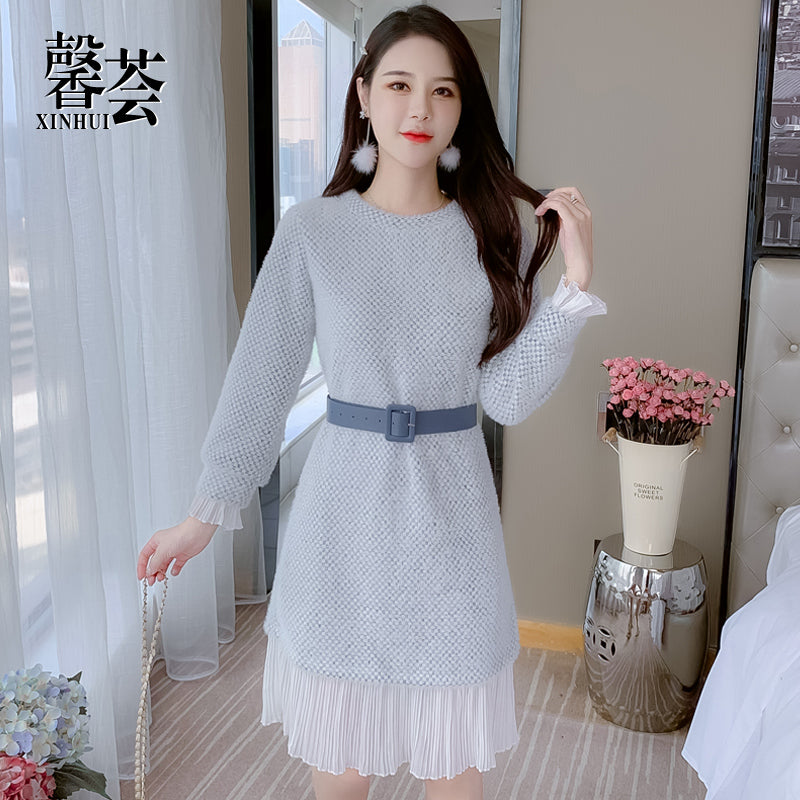 A20E French Bottom Thick Dress Winter 2020