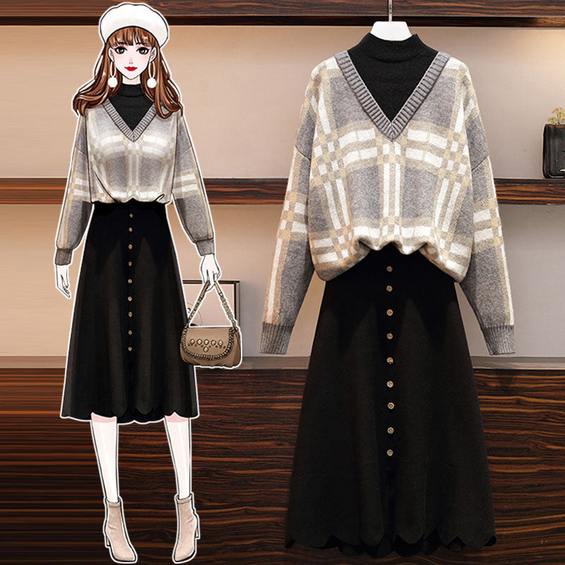 A20i Loose Soft Sweater Belly Skirt Winter 2020