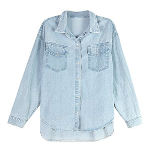 A27N Loose Jeans Type Blue Shirt