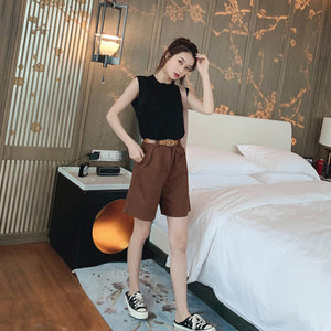 A35N Sleeveless Top Aging Pants Two-piece Suit