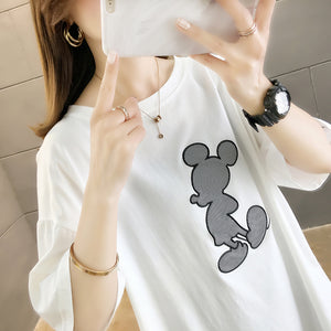 A38B Transparent Design Micky Printing T-Shirt