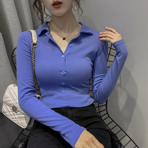 Half Open Collar Slim Soft Shirt