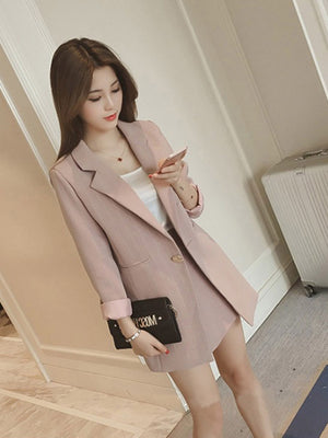 A27D Tall Lady Sweet Three-Piece Suit Top
