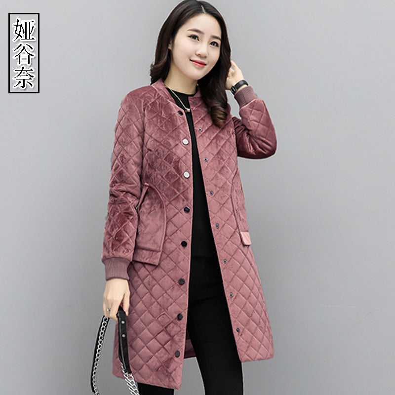 A11C Loose Long Velvet Girls Coat