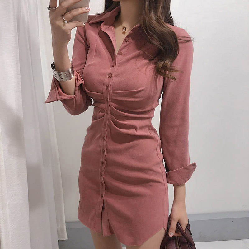 A17W Fit Waist Sexy Look Dress
