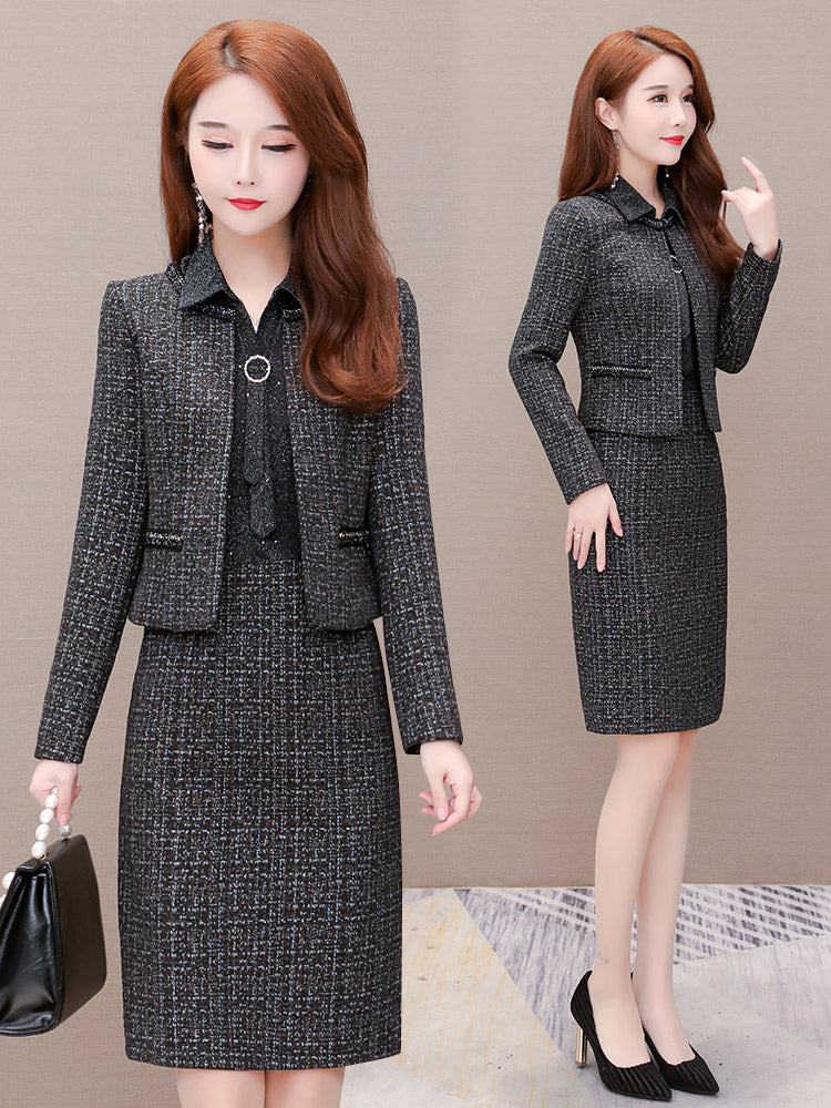A16F Two-Piece Set Temperament Fashion Dress