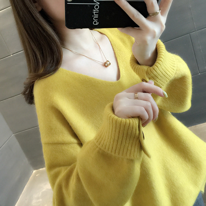 A12H Half Turtleneck Knitted Bottoming Pullover