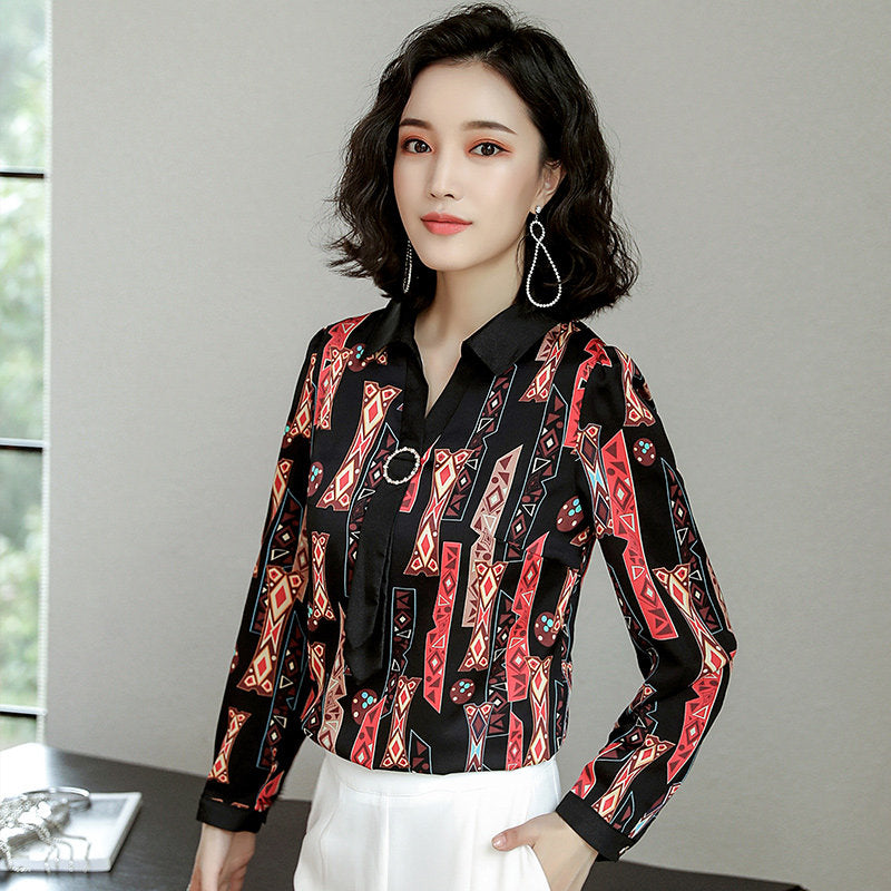 IRRESISTABLE Patterned Shirt-Blouses & Shirts-[korean fashion]-[korean clothing]-[korean style]-SOO・JIN