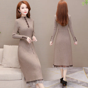 Over the Knee Sweater Base Dress