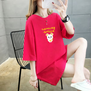 A38J Half-Sleeved Cute Mouse Anime T-Shirt