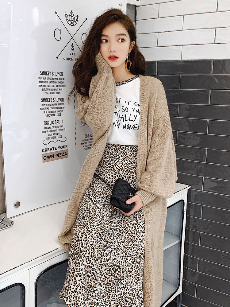 Oversized Sleeve Cardigan-Cardigans-[korean fashion]-[korean clothing]-[korean style]-SOO・JIN