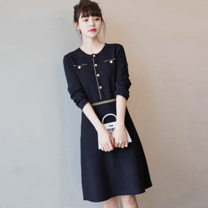 A11L  Soft and Glutinous Knitted Dress