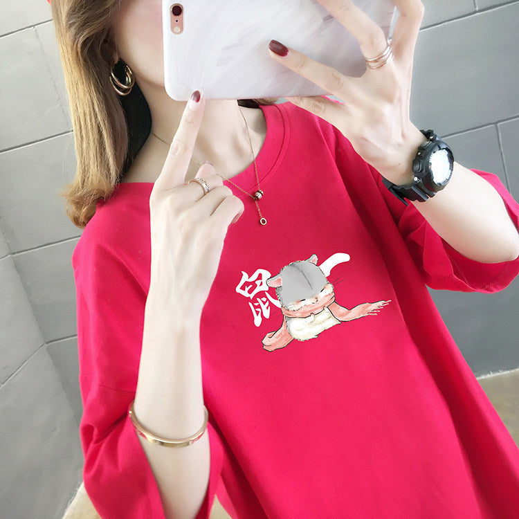 Cartoon Printed Short Sleeve Shirt