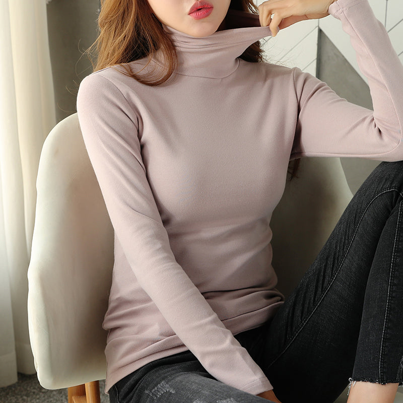 A12Z Soft Thick Warm Turtleneck T-Shirt