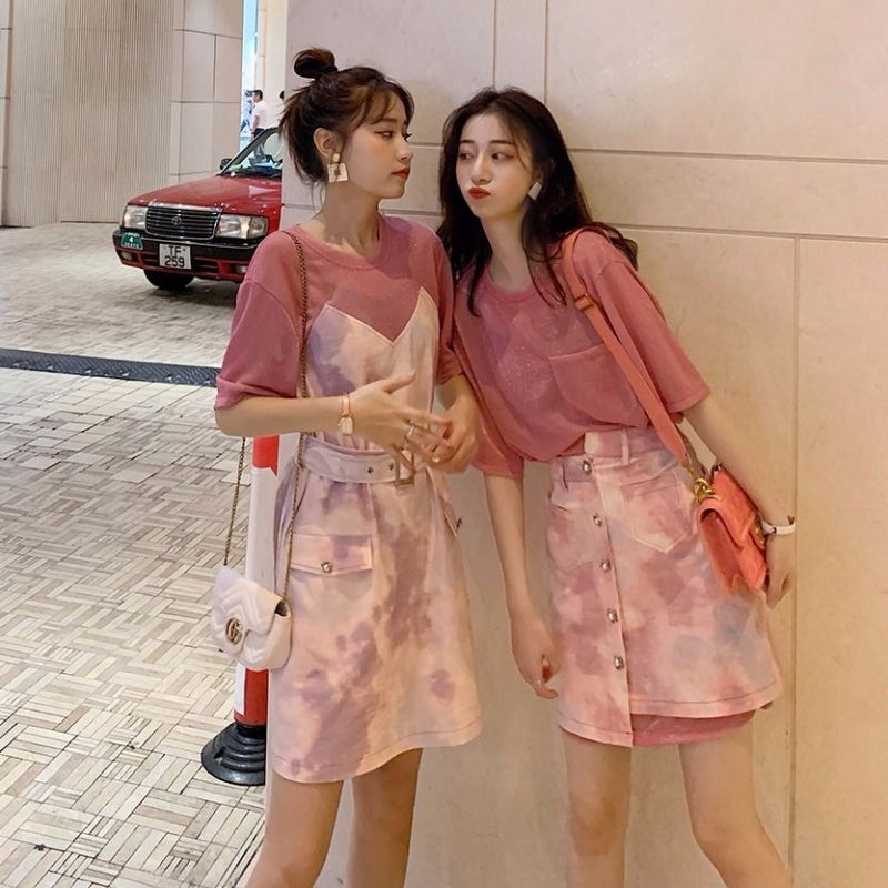 A27H Female Two-Piece Fashion Foreign Style Top