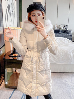 Long Sections Knees Puffer Jacket