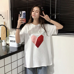 A37C Romantic Letters Printing Sweet T-Shirt