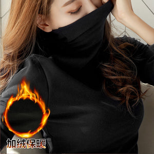 Soft Thick Warm Turtleneck T-Shirt