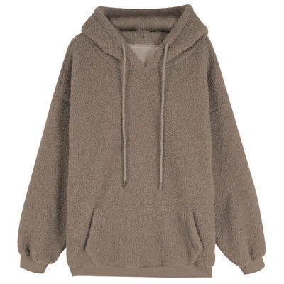 Letters Style Hooded Loose Pullover