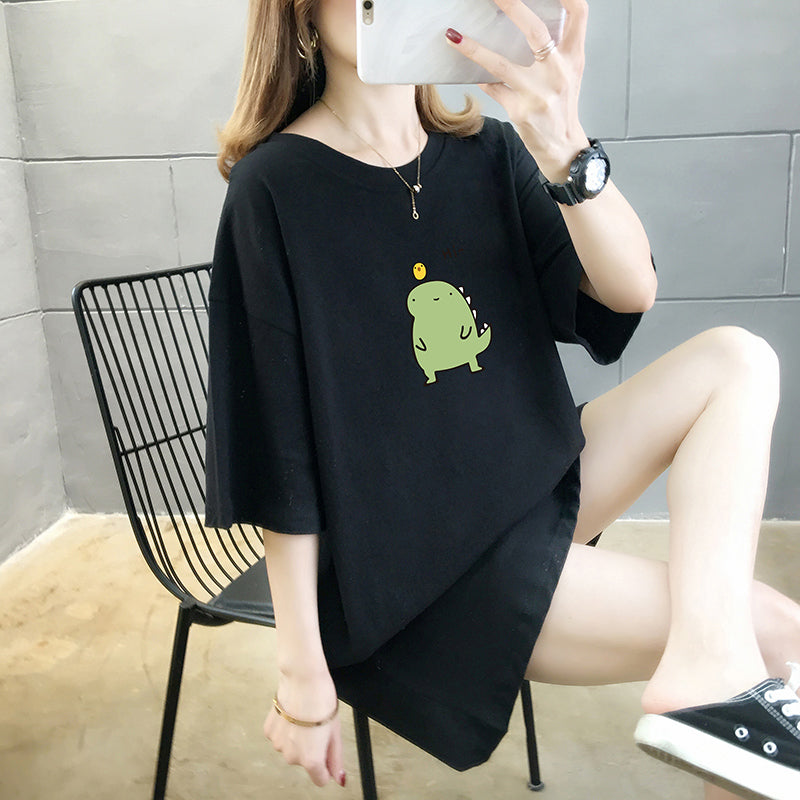 A31J Cartoon Design Short-Sleeved Top